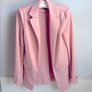 Forever 21 light blush suit jacket, size small